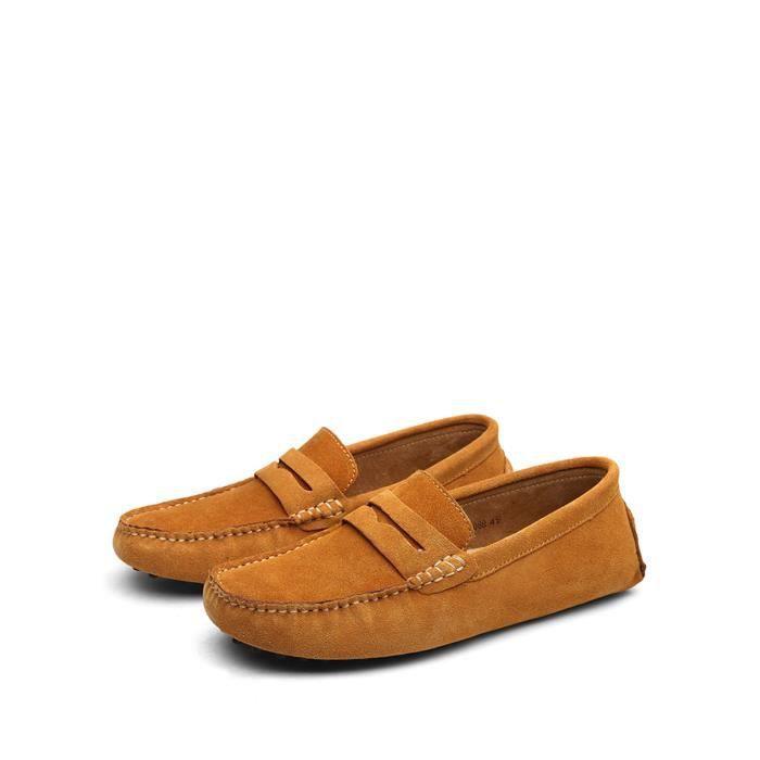 Glissement Hommes Ons Solide Couleur simple style décontracté Cozy Chaussures souples 2513290 5ZHbe
