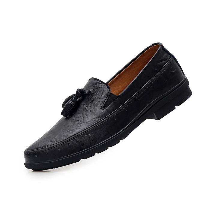Moccasin Homme En Cuir Nouveauté Mode Chaussure Poids Léger Qualité Supérieure Moccasins Plus De Couleur Confortable meilleur 38-46