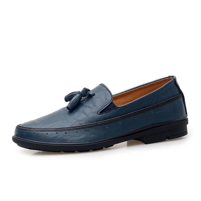 De Cuir Supérieure Chaussure Homme Léger Mode Poids En Respirant Qualité Moccasins Moccasin Plus Nouveauté Couleur Confortable qH74B
