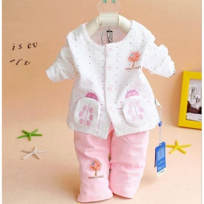 dc72ea5431ba4 nouvelle arrivée automne - hiver fille nouveau - né bebe porter vêtements  mis max + pantalon pyjama carter 6-9 mois Rose
