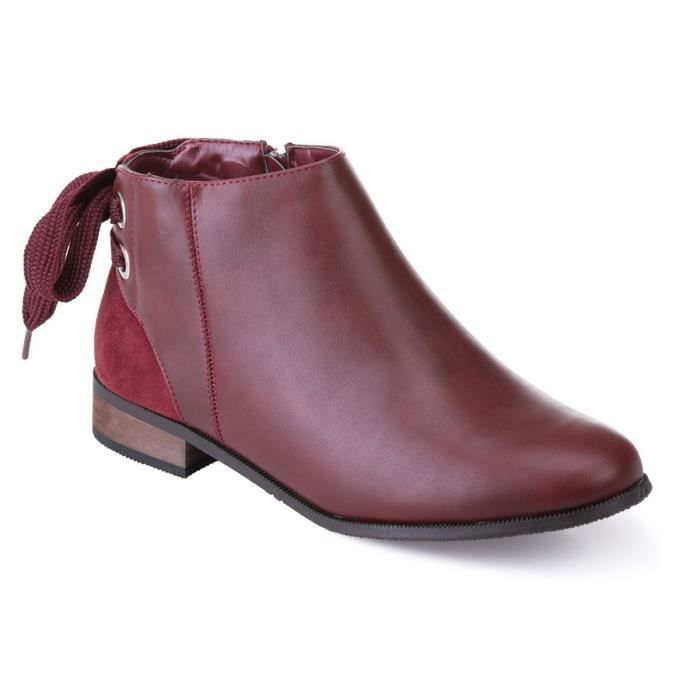 Chelsea Bottines Chelsea Bordeaux Bordeaux Laçage Bottines Fantaisie w5tnnqUB