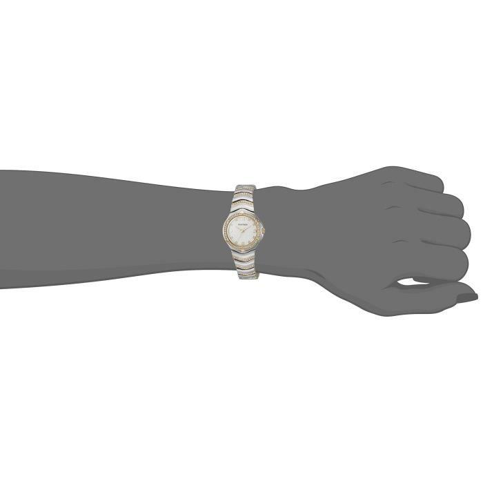 75 - 5431wttt Cristal Swarovski Accented bicolore Montre-bracelet CJP4L