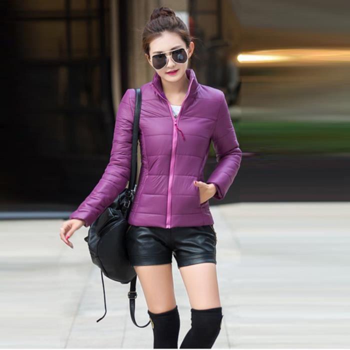 Décontractées violet Mode Doudoune Veste Base Manteau De Vestes Hiver Automne Femme Femmes BBPqx6