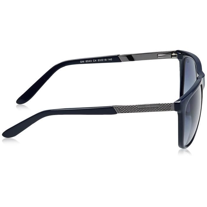 Uv Protected Oval Unisex Sunglasses - (gm6043c.04dbl 58 grey Lens) SYIWV