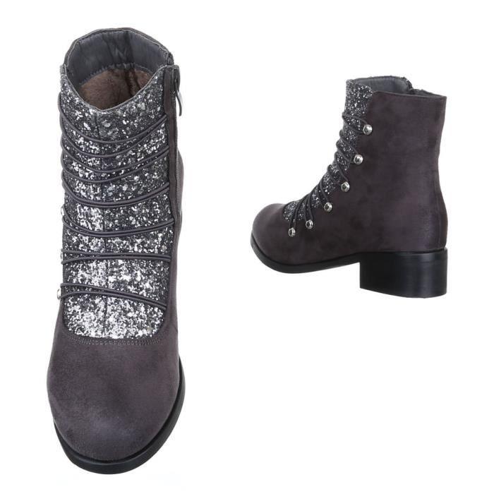 femme bottine chaussure léger doublé Boots