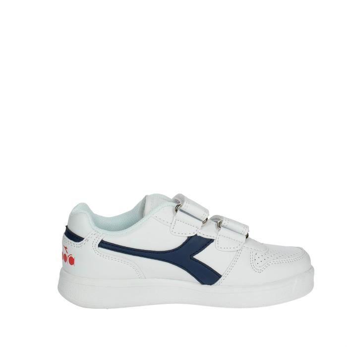 Diadora Petite Sneakers Garçon Blanc/Bleu, 34