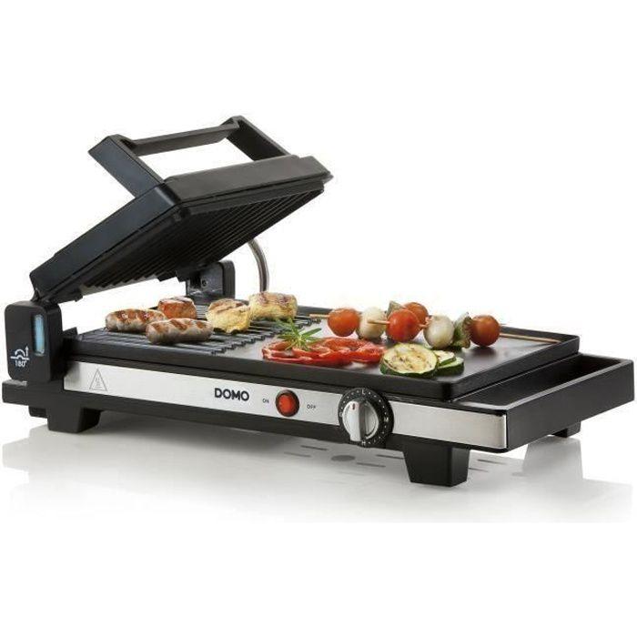 Pour griller viande, poisson, légumes et autres snacksPLANCHA DE TABLE - PLANCHA ELECTRIQUE