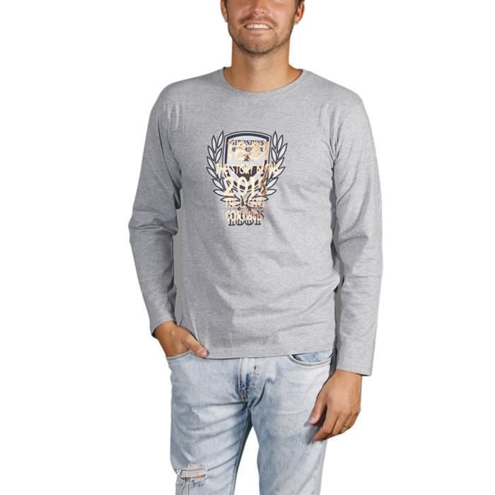 FCGB Tee shirt Story Manches longues - Adulte - Gris chiné