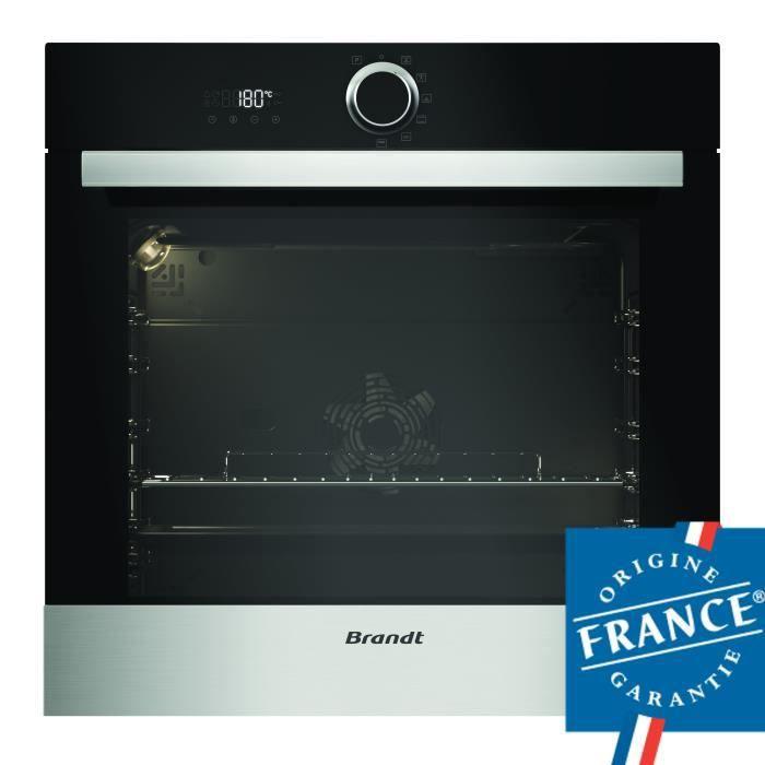 BRANDT BXP5338X Four électrique encastrable multifonction - 68L - Pyrolyse - A+ - Inox
