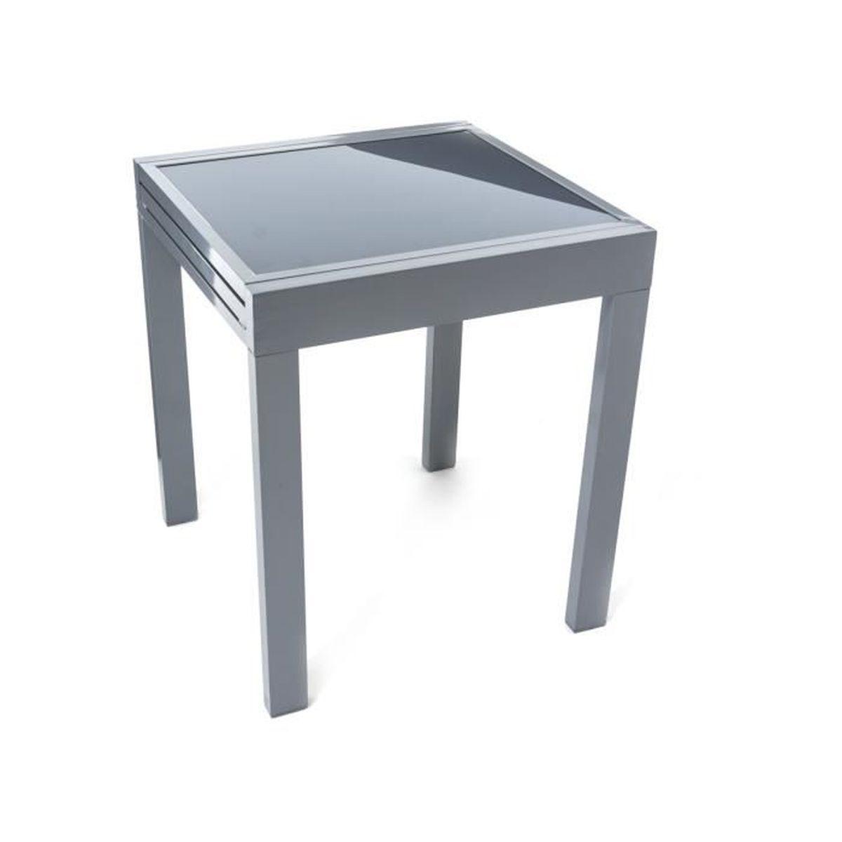 PureDay Table en verre à rallonges, pour le jardin, structure en ...