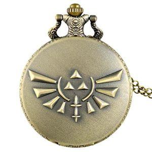 SAUTOIR ET COLLIER La Légende de Zelda Noir Bronze Pendentif Vintage ... 8ad1211be460
