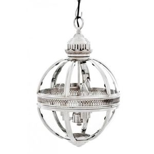 LAMPE A POSER Casa Padrino baroque pendant lamp silver plated ba