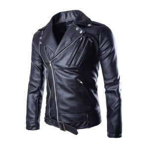PARKA Veste blouson cuir homme Moto Biker Jacket moto