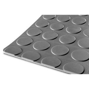 TAPIS DE SOL Caoutchouc pastille 1m x 1,2m x 3mm gris MW-Tools