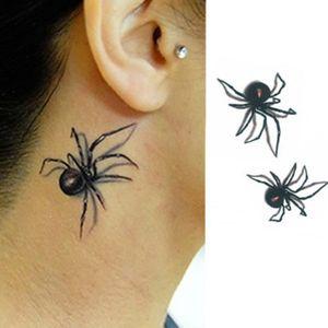 TATOO - BIJOU DE CORPS Motif d'araignée décalcomanie autocollant temporai
