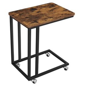 TABLE D'APPOINT VASAGLE Table d'appoint mobile Table basse/anguleu