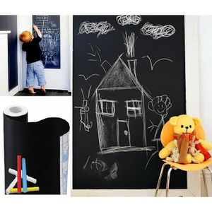tableau noir a craie mural achat vente tableau noir a. Black Bedroom Furniture Sets. Home Design Ideas