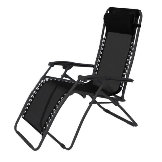 Chaise Longue En Fer Noir