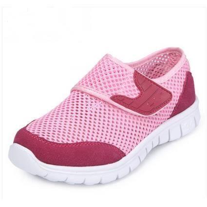 Chaussures de sport respirant chaussures de maille chaussures garçons de Réseau Enfants-Santé, rouge 33