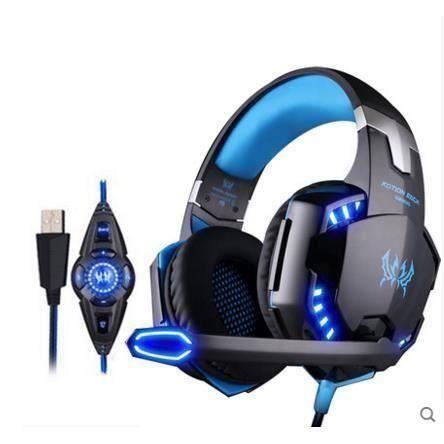 Each G2200 Virtual Surround 7.1 Gaming Headset Casque Filaire Usb Avec Microphone Pour Pc Mac Fonction Vibration & Led