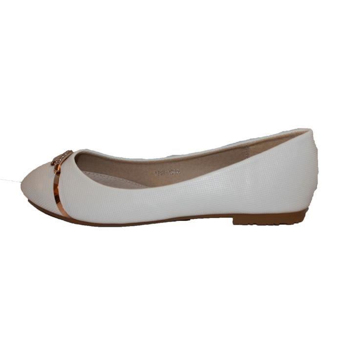 920d4b7f8a976 Ballerine femme blanche Blanc blanche - Achat   Vente ballerine ...