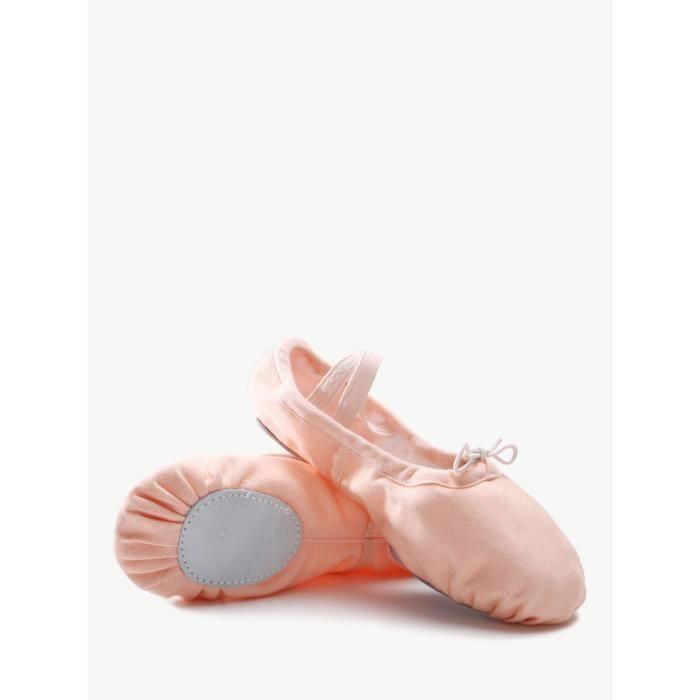 Chaussures de ballet de fille Soft Chaussures de danse Sole toile 5115454