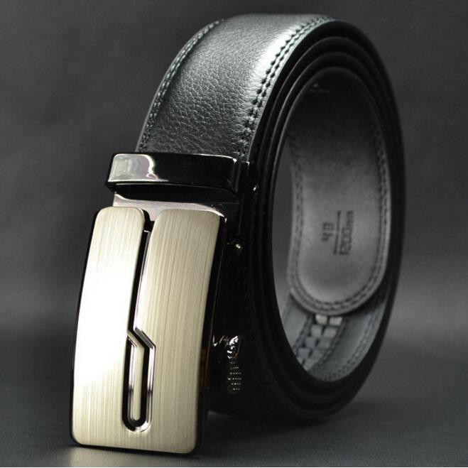 cd21578a171 Ceinture de boucle automatique en cuir pour hommes haut de gamme en cuir