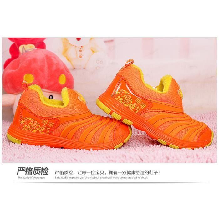 Chaussons de chenilles pour enfants en hiver Chaussures de sport souples 6W83Cy