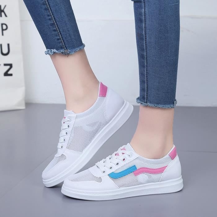 Basket Bleu Women Femme Runing Sneakers jaune Chaussures Shoes PwOzx5