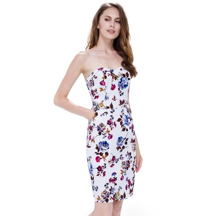 Round Mode élégant Femmes manches courtes Robe Casual 05488 2FNRC1 Taille-34