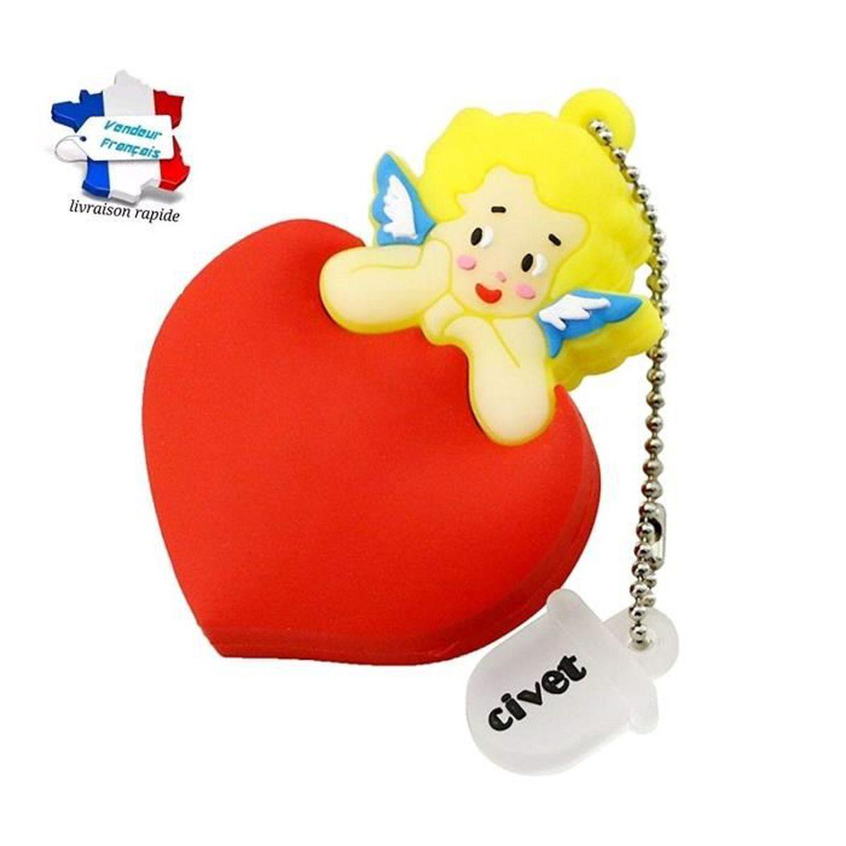 cle usb cupidon coeur saint valentin , capacité 16go , livraison