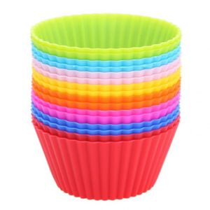 MOULE  16 Pcs-Lot Silicone Cupcake Liners Moule Muffin Ca