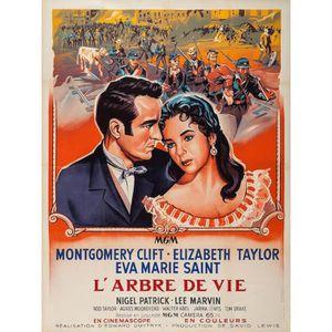 AFFICHE - POSTER ARBRE DE VIE (L') reproduction affiche de cinéma f