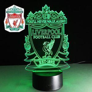 OBJETS LUMINEUX DÉCO  3D Nuit Lumière Lampe Acrylique Liverpool Club de