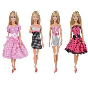 ACCESSOIRE POUPÉE 4pcs Barbie vetement, Robe pour barbie, Poupee rob