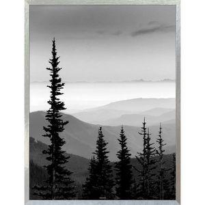 ARMOIRE - BOITE A CLÉ PIN Boîte à clés 18x24 cm Noir, gris et blanc