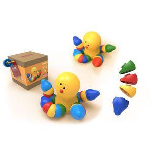 ASSEMBLAGE CONSTRUCTION LUDUS- Octopus - Jeux assemblage en bois - Mixte -