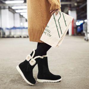 martin boots-Pure Color talon plat Suede femme ... LJ1tjP6