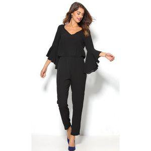 COMBINAISON Combinaison habillée manches 3/4 cloche femme