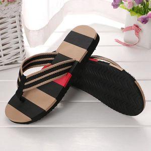 Hommes chaussures d'été couleurs mélangées sandales pantoufles mâles intérieures ou extérieures tongs@Gris GGgfMVoN