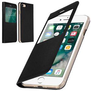 coque iphone 8 plus dore avec rabat