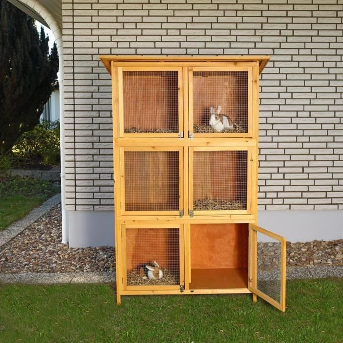 CLAPIER Cage Clapier en bois  180 cm x 102 cm x 48 cm