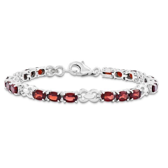 Bracelet Femme-Argent 925/1000–Grenat