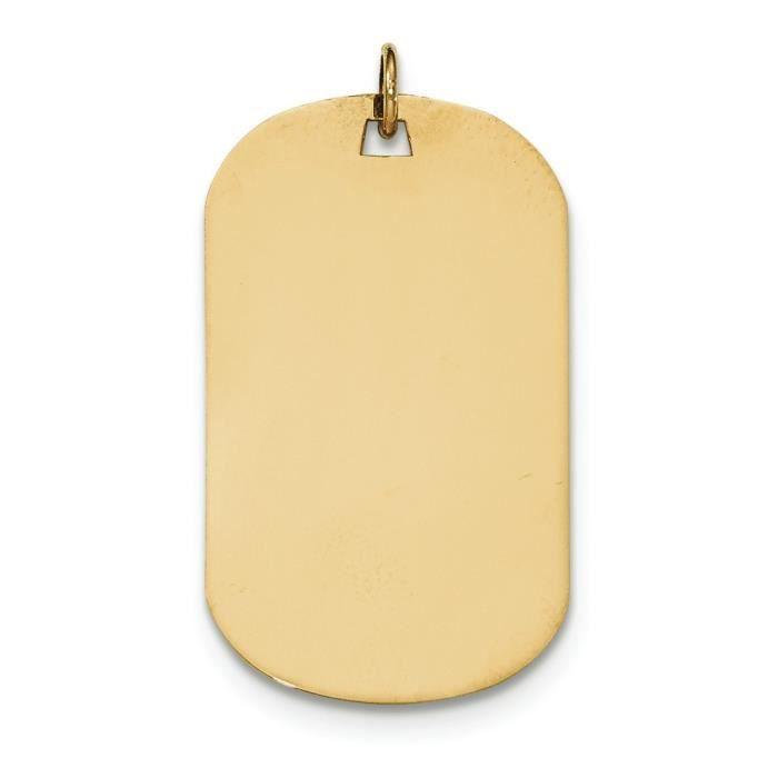 Tirant .013 14 carats-Médaille-disque Engravable charme