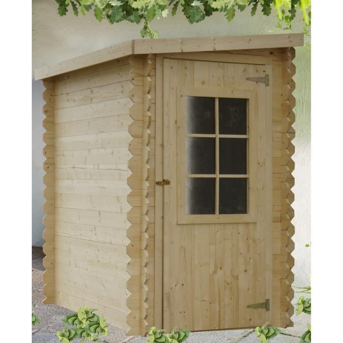 Chalet bois adoss 2x1 25 m 19mm achat vente abri - Abris de jardin adosse ...