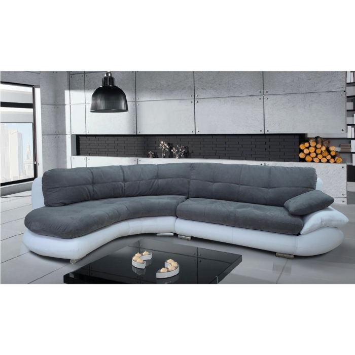 canap d 39 angle microfibre grise s n gal gauche achat. Black Bedroom Furniture Sets. Home Design Ideas