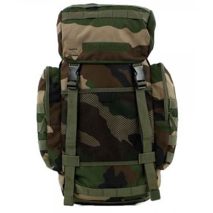 Véritable Sac À Dos Militaire 22 Litres Camouflage Blanc Et Noir rItIC