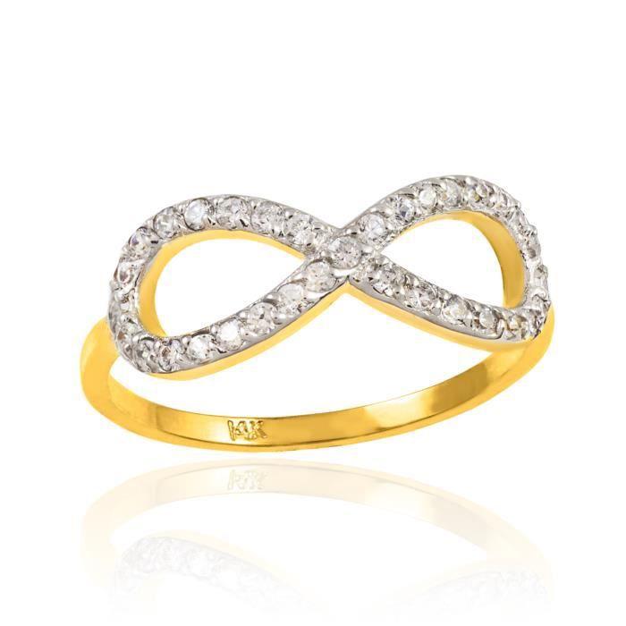 Bague Femme 10 ct Or 471/1000 Diamant  Infinité