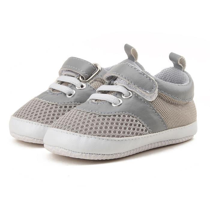 Frankmall®Bébé enfant tout-petits chaussures garçons filles Mesh Soft semelle Sneaker sport chaussures GRIS#WQQ0926047