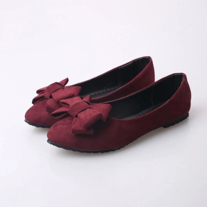 Été Femmes Appartements Chaussures Femmes Casual Mocassins Plat Slips Chaussures FemmesDu vin 2GRKYvyAx0
